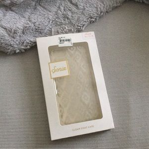 Sonix clear case with white design